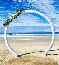 Circle arbour on the beach.JPG