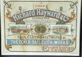 Historic promotional poster for Coker Sail Cloth Works