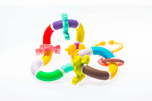 Silicone Twisty Rattle Teether