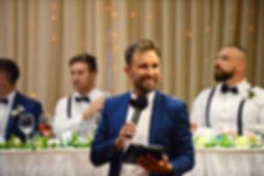 MC for wedding reception at Matakana, Auckland