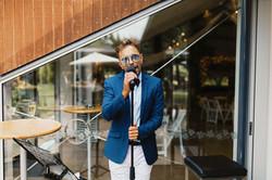 Singing for wedding before DJ set at Markovina, Kumeu