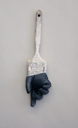 black glove brush