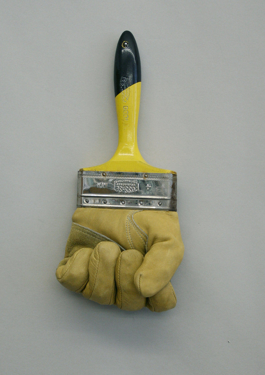 clenched glove brush