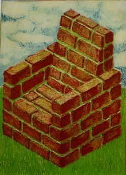 Brick Chair, intaglio