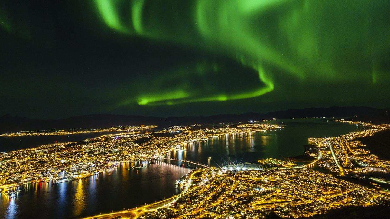 Tromso Noruega Auroras