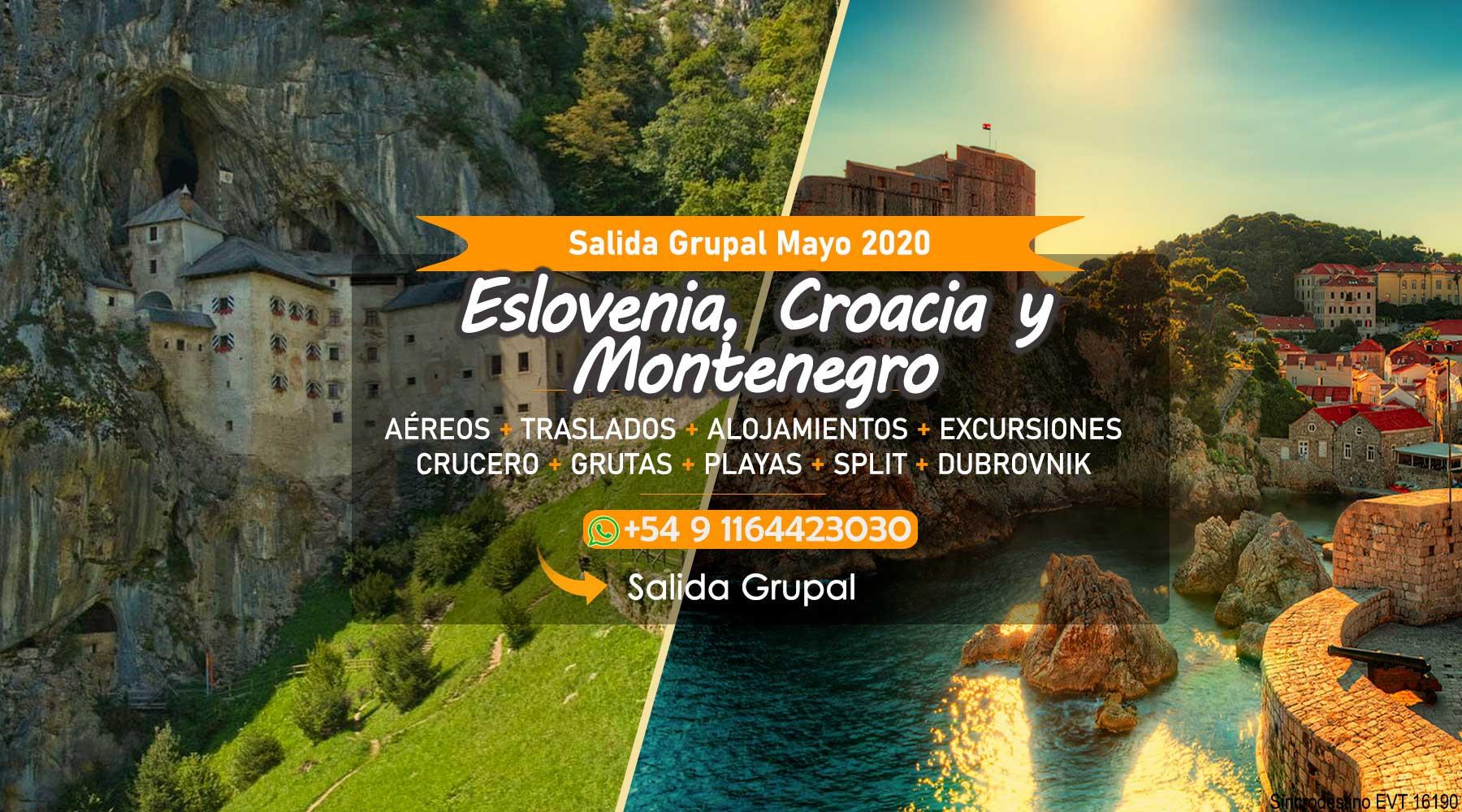 Eslovenia Croacia y Montenegro