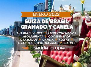 Paquete de viaje grupal a Brasil, Gramados y Canela con Playas Floria y Camboriu