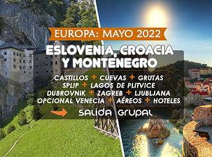 Paquete a Eslovenia, Croacia y Montenegro 2022