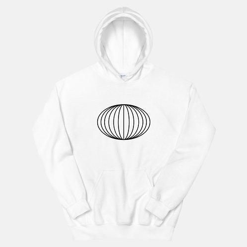 Striped Oval Shape Hoodie