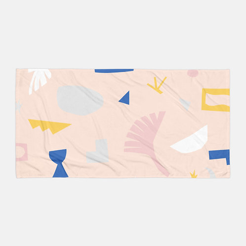 Colorful Shapes Cream Towel