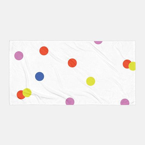 Colorful Polka Dots Towel