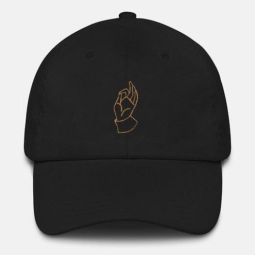 Gold A-OK Hand Baseball Cap