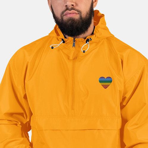 Yellow, Single Heart Packable Jacket