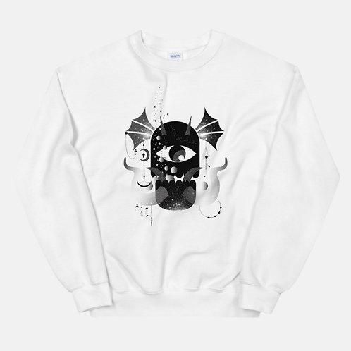 Black and White Abstract Art Sweatshirt
