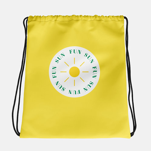 Sun Fun Drawstring Bag