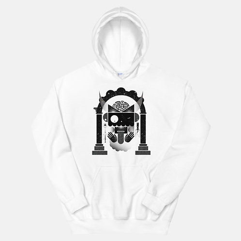 Black and White Abstract Art Hoodie