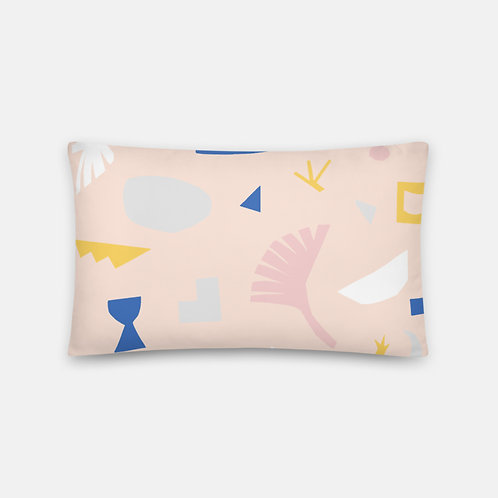 Colorful Shapes Cream Pillow