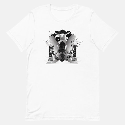 Black and White Abstract Art Tee