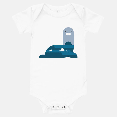 Friendly Sea Lion Baby One-Piece