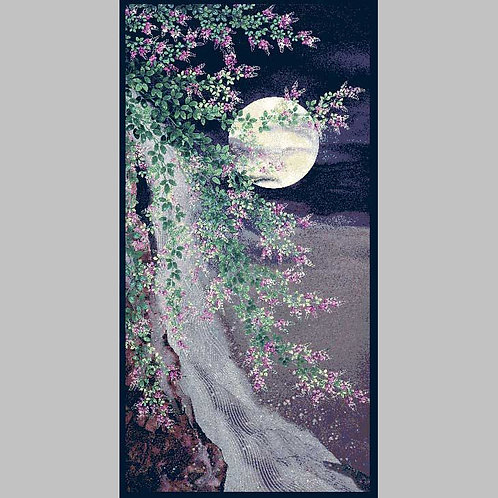 Moon Over Waterfall