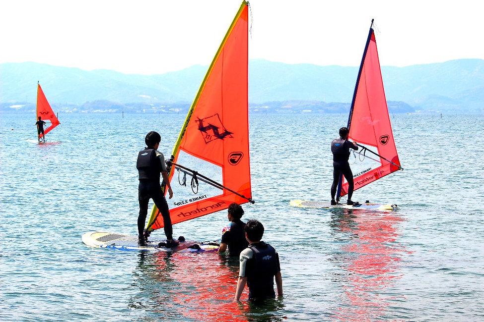 浜名湖 マリンスポーツ ウインドサーフィン  スクール