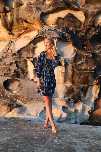 EMMA dress in Ocean blue