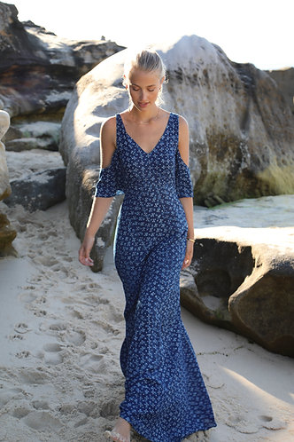 ANNABELL Dress in Storm blue
