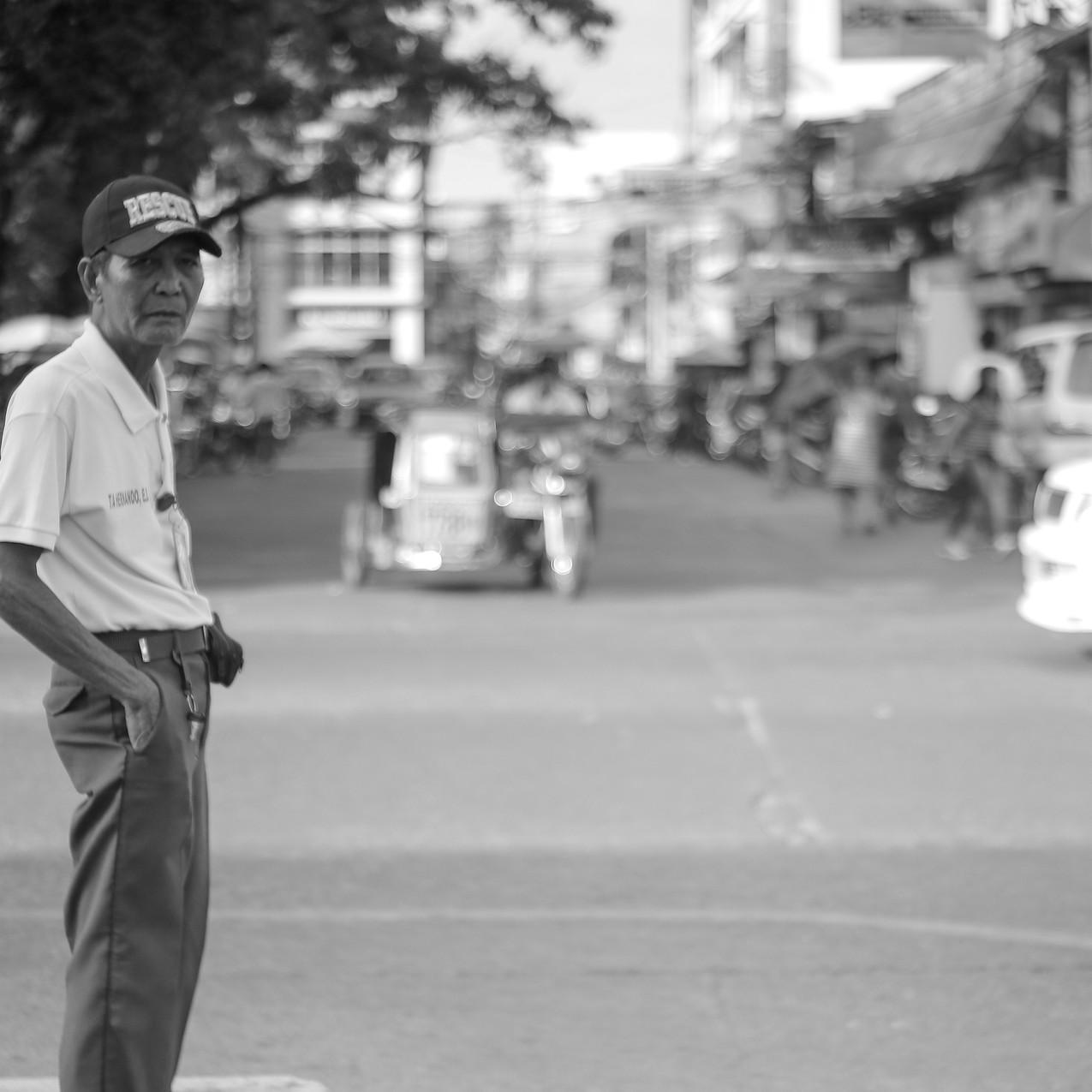 A Lone Traffic Enforcer