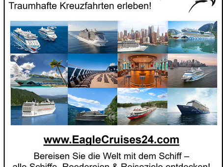 Alle Schiffe, Reedereien & Reiseziele! Hochseekreuzfahrten & Flusskreuzfahrten weltweit erleben!