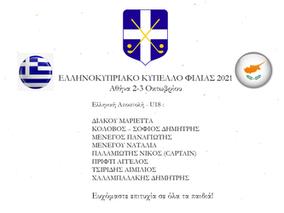 ΕΛΛΗΝΟΚΥΠΡΙΑΚΟ ΚΥΠΕΛΛΟ ΦΙΛΙΑΣ 2021