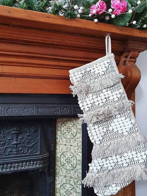 Boho fringe stocking