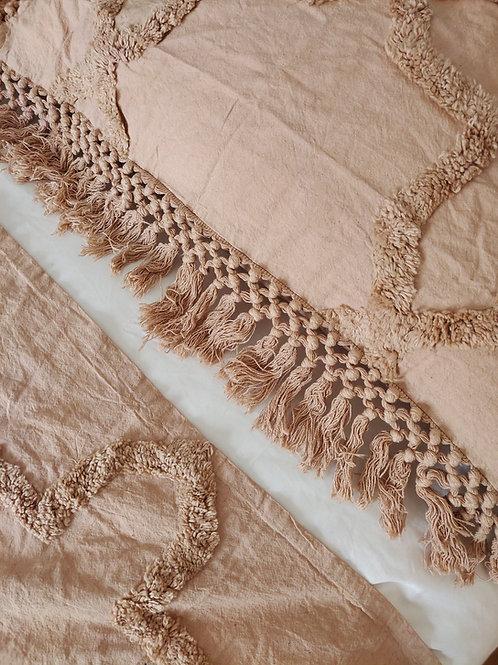 Boho bedspread and pillow set (Mauve)