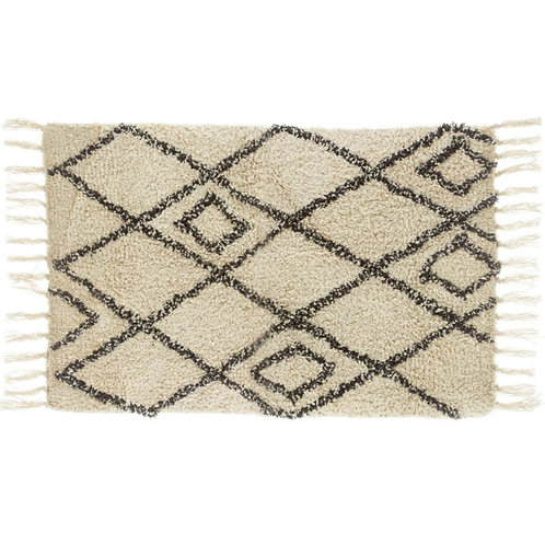 Sass and Belle Berber style diamonds tufted rug.