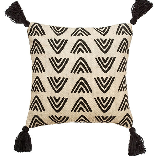 Sass and Belle triangles block print cushion