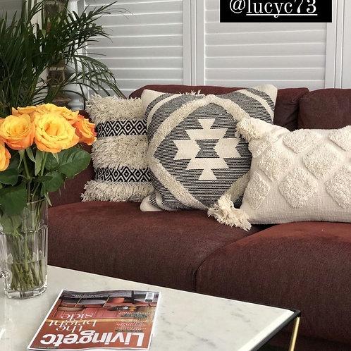 Diamond cut cushion cover