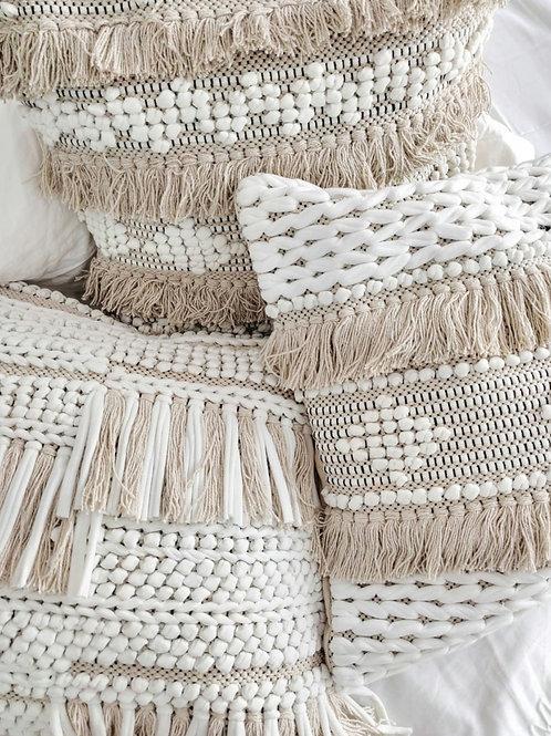 Natural Fringe cushion cover
