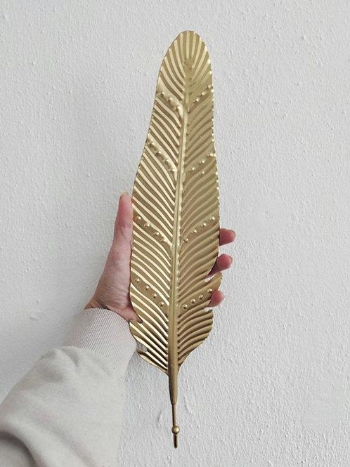 Leaf Shape gold coated Iron Hook