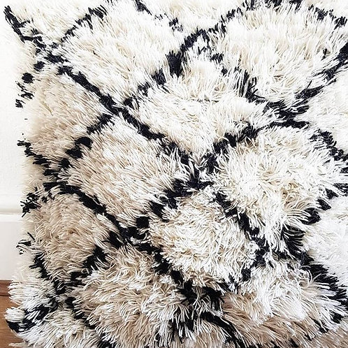 Black and White Berber cushion cover