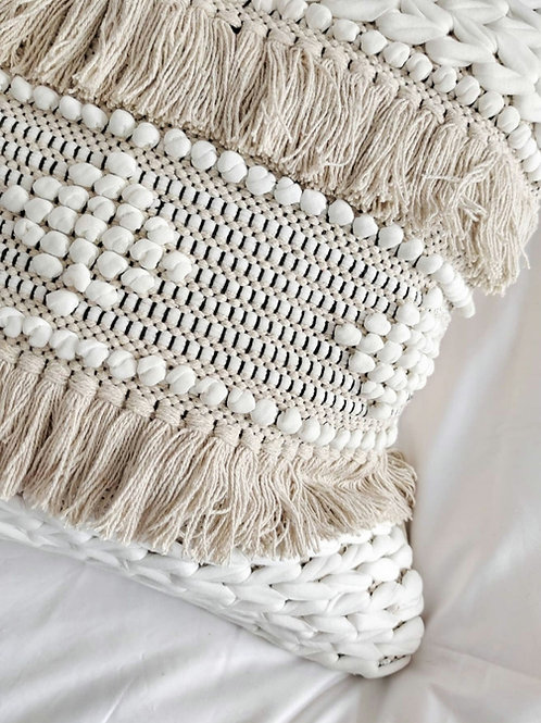 Handwoven Fringe cushion cover