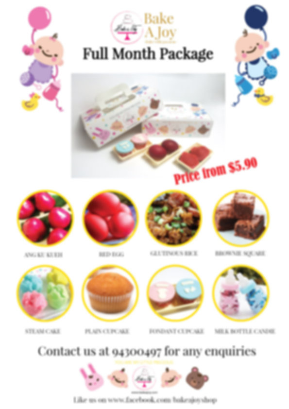 Singapore bake a joy baby full month package