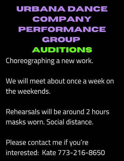 Calling all dancers to audition to be in