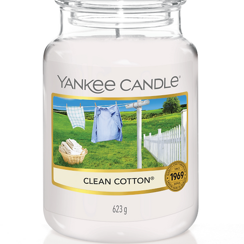 Clean cotton (medium/large) Yankee Candle