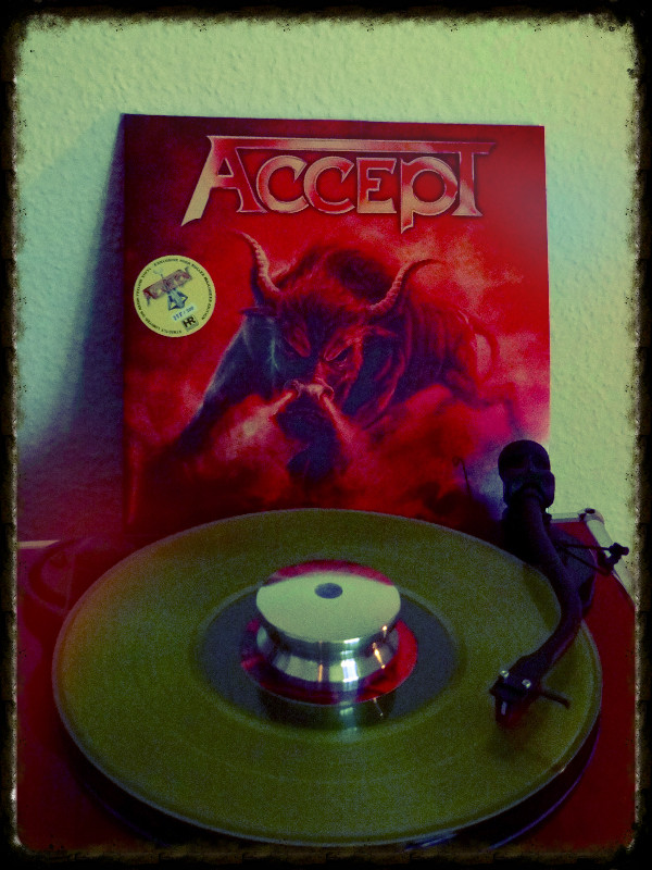 Accept Blind Rage Vinyl Limited Yellow