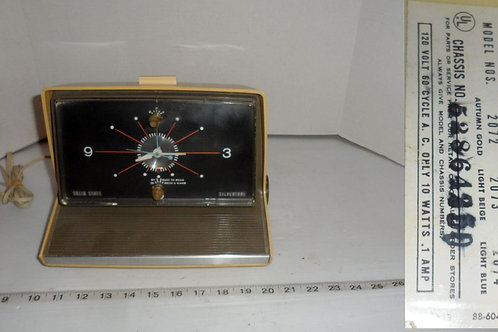 Sears Silvertone Alarm Clock-AM Radio Model 2072 Only Clock
