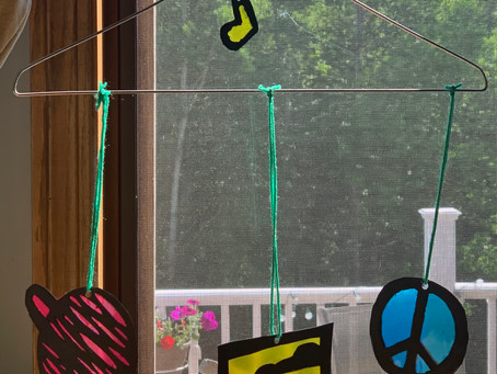 Tween craft-sun catcher mobile