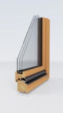 Fensterecke Holz