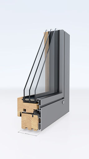 Fensterecke Holz-alu