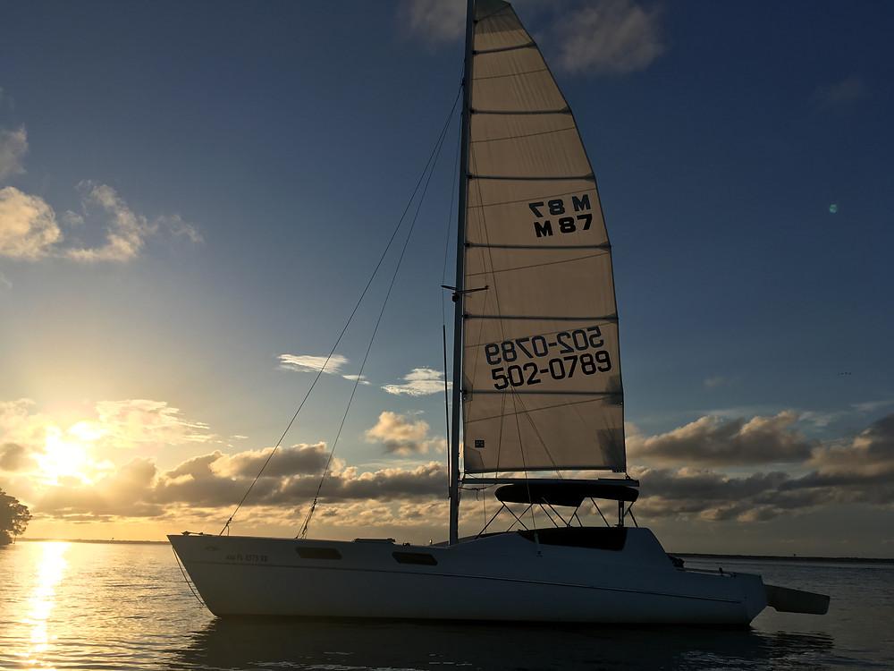 Sailing Destin, FL Sunset