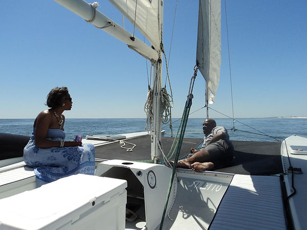 Engagement Destin Florida Catamaran Sailboat Charter
