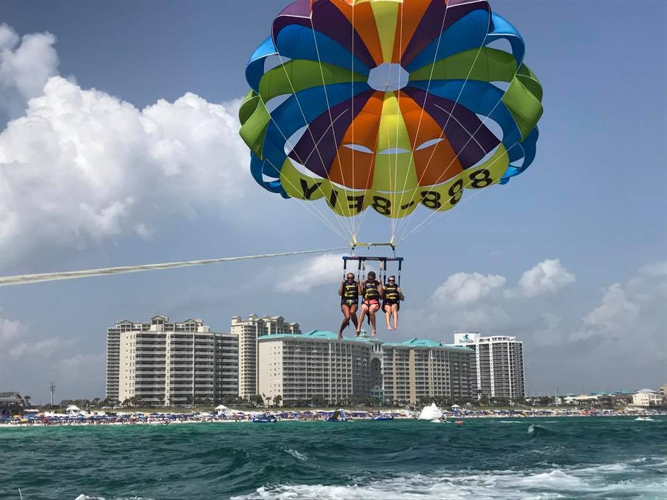 Parasailing in Destin, Captain Jambo Style!